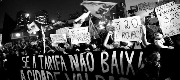 Manifestação contra aumento da tarifa